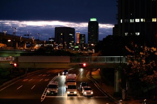 神戸税関前薄暮